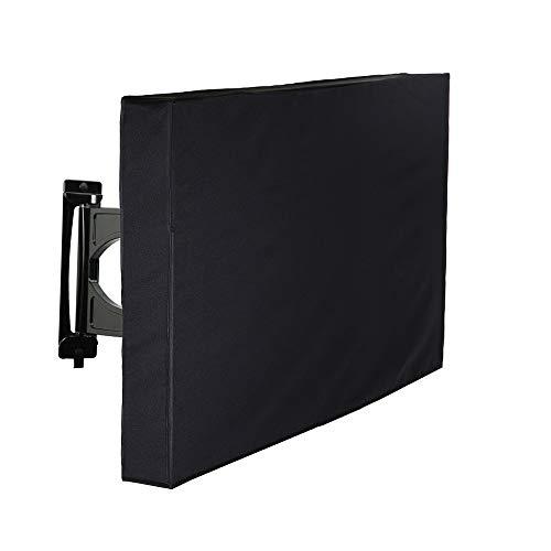 Gamogo Cubierta de TV para Exteriores 22 - 24  Protector a Prueba de Agua a Prueba de Polvo del televisor Control Remoto Cubierta Inferior de Bolsillo para televisores de Plasma LCD LED