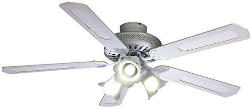 Farelek Baleares - Ventilatore da soffitto, 132 cm, Colore: Bianco