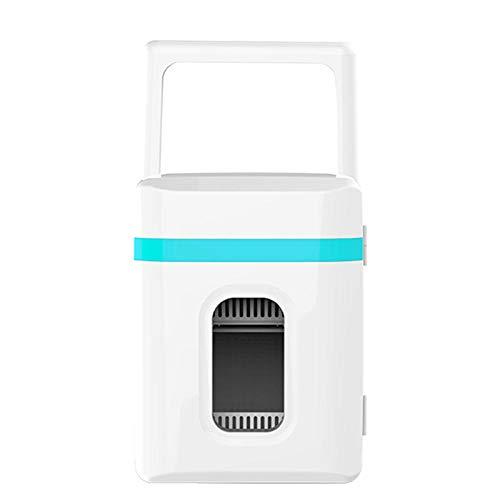 Mini Nevera 10L Mini Frigorífico Portátil, 12 V/220 V para Coche y Casa, 2 en 1 Termoeléctrica Nevera con función de Frío y Calor, Manija Automática, Incluye Estantes Extraíbles(Modo Eco)