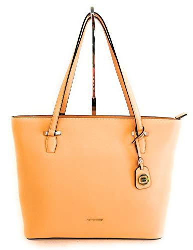 Cromia Damen Handtasche Shopping Leder 1404096 Farbe Creme Maße 31 x 26 cm