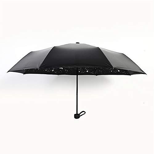 xinrongqu Kreative Star Umbrella Männer Und Frauen Anti-Uv Sonnenschirm Sonnencreme Falten Regen Und Regen Regenschirm