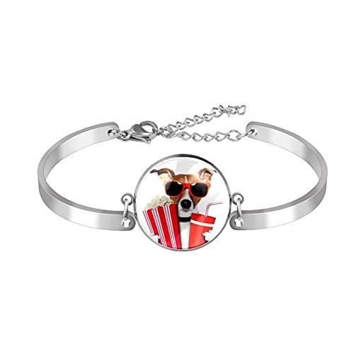 Pulsera de abalorios pulseras únicas moda Cool Dog Ver películas Beber Gafas niñas mujeres