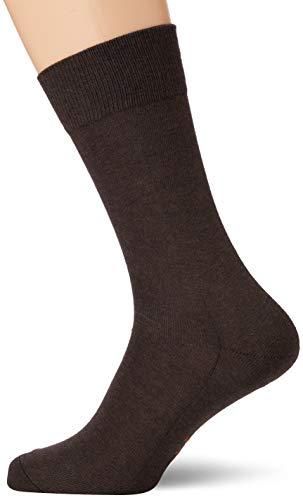 FALKE Herren Socken Family, Baumwolle, 1 Paar, Braun (Dark Brown 5450), 39-42 (UK 5.5-8 Ι US 6.5-9)
