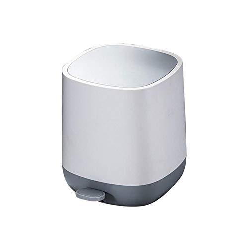 Plástico Cubo De Basura De Pedal,7L Cubo De Basura De Pedal para El Hogar Oficina,Bote De Basura con Tapa con Forro Extraíble,Cubo Dustbin Cocina Oficina-B 20.5x20.5x27cm