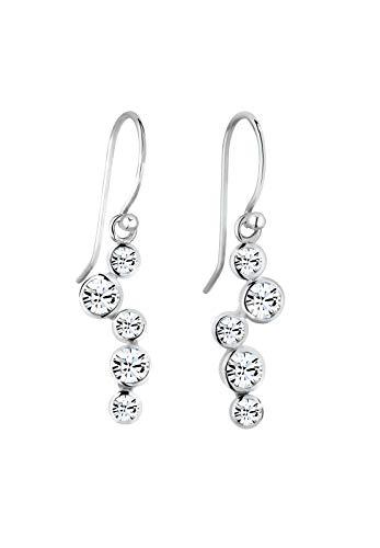 Elli Ohrringe Damen Tropfen mit Swarovski® Kristalle in 925 Sterling Silber