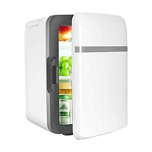 Mini Nevera Habitacion 10L,nevera pequeña 12V/220V,Nevera Pequeña Cosmeticos Silenciosa para Skincare, Alimentos, Bebidas, Cuidado de la piel