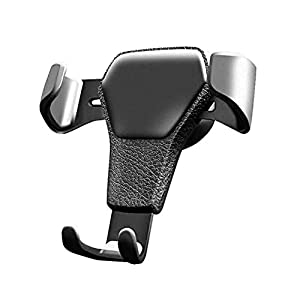 USNASLM Carbon Fiber Universal Car Mobile Phone Holder Air Vent Mount Stand No Magnetic Cell Phone Holder Silicone Scratch Resistant