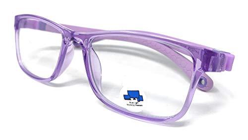 VENICE EYEWEAR OCCHIALI Azul Bloqueo Gafas para Niños Anti Rayo Azul Filtro Reduce Fatiga Visual Para Niña Chico Gafas de Ordenador para Niños Bloqueo Luz Azul Gafas Computadora Ordenador (Lila)