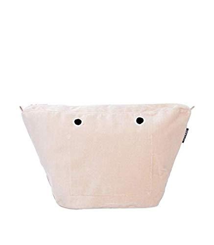OBAG bolsa interior para bolso MARCA MODELO KNIT MINI color blanco hielo (LATTE) cierre de cremallera