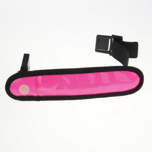 LED High Visibility Flashing Safety Armband Cycling Jogging Walking Reflective LED Armband (Pink) by ACEVER