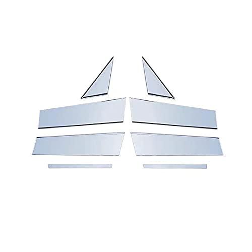 För Mazda 3, för Axela 2020 rostfritt stål bilfönster mittpelare Täcklister Klistermärke Auto tillbehör