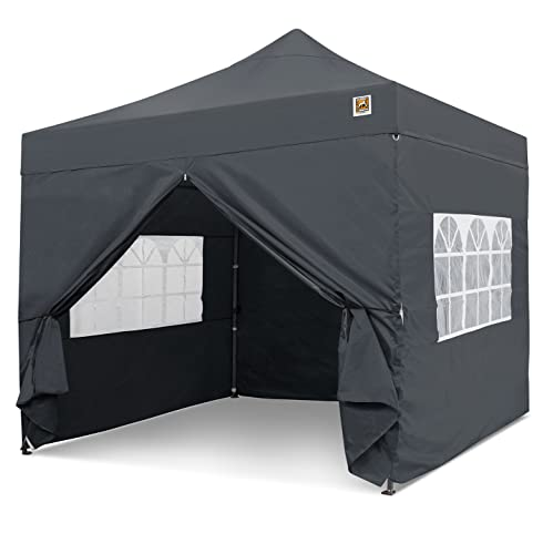 Gorilla Gazebo ® Pop Up 3x3m Heavy Duty Waterproof Commercial Grade Market Stall 4 Side Panels and Wheeled Carrybag (Graphite)
