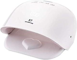 Nfudishpu 48W secador de uñas, Sensor de Infrarrojos de Alta Potencia Inteligente máquina de fototerapia de uñas, lámpara para Hornear LED para blanquear no Mano Negra (Blanco)