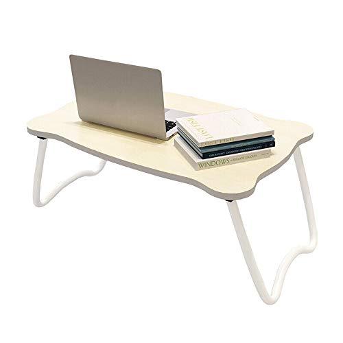 HJCA Computer Desk Klaptafel, bed met tafel voor notebook, inklapbaar, ruimtebesparend, hout, 60 x 40 x 27, campingtafel voor buiten