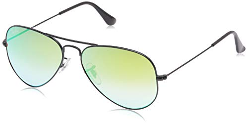 Ray-Ban Occhiali da Sole Unisex-Adulto, Nero (Shiny Black), 55 mm