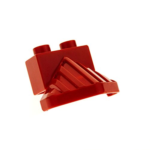 1 pieza de Lego Duplo accesorio de tren, rojo, colector de vaca para tren, locomotora de vapor, pieza de repuesto 4550
