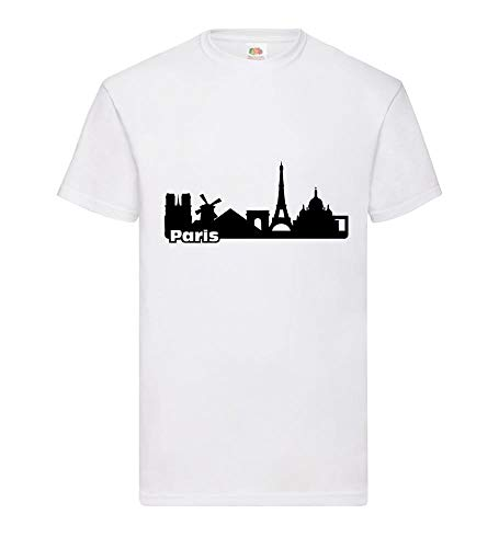 Paris Skyline 2.0 mannen T-shirt - shirt84.de