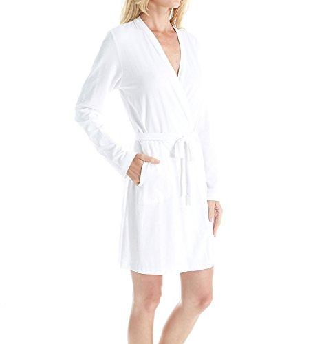DKNY Langärmeliger Damen-Bademantel - Weiß - X-Large