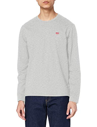 Levi's Ls Original HM Tee T-Shirt, Medium Grey Heather, L Homme