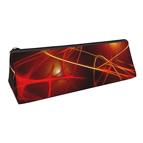 Wave Light Lights - Estuche de lápices con diseño de triángulo con cremallera de tela Oxford multifuncional bolsa de almacenamiento bolsa de cosméticos