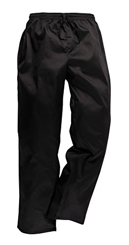 PORTWEST pantalon de cuisine élastiqué - - 2XL - Noir