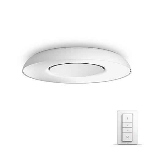Philips Hue Still Led-plafondlamp, incl. dimschakelaar, dimbaar, alle witschakeringen, bestuurbaar via app, wit, compatibel met Amazon Alexa (Echo, Echo Dot)