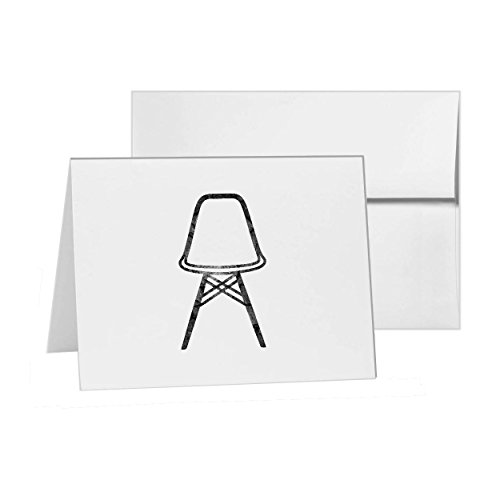 Eames Chair Vitra Graph Home Piece, Blank Card Invitation Pack, 15 cards at 4x6, with White Envelopes, Item 1080304