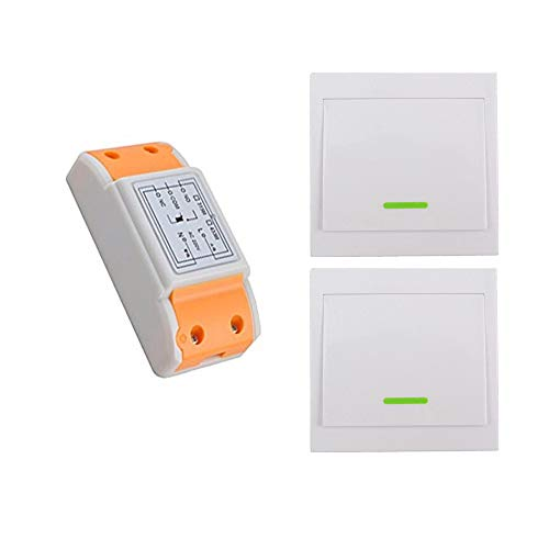 1 canale ac220v interruptor remoto Kit de Interruptor de Luces Inalámbricas Control Remoto de Radio Mando a Distancia para Casa Iluminación y Electrodomésticos Salida de relé