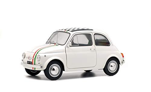 Solido S1801403 1:18 1968 Fiat 500L Italia-Color Blanco