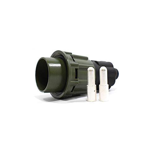 MGF NATO Stecker 24V 2 Pole Aluminuim Olive versilbert