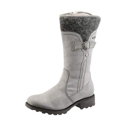 Tamaris Damen Stiefel Stiefelette Schuhe Textil Futter warm gefüttert Duo Tex grau Schuhgröße EUR 36