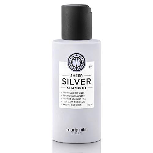 Maria Nila Care & Style - Sheer Silver Shampoo 100ml | Silber Shampoo mit violetten Pigmenten