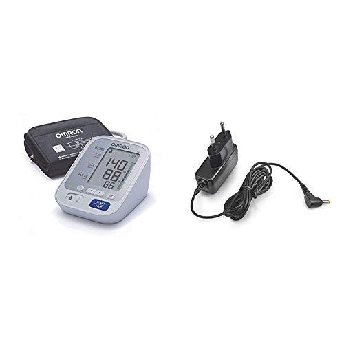 OMRON M3 - Tensiómetro de brazo digital con detección del pulso arrítmico, validado clínicamente + Adaptador de Corriente