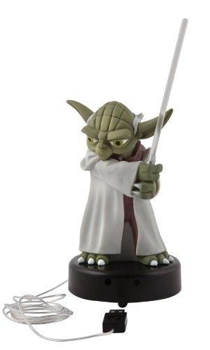 Joy Toy 21398 - Plastikfigur Yoda mit Lichtschwert 14 cm