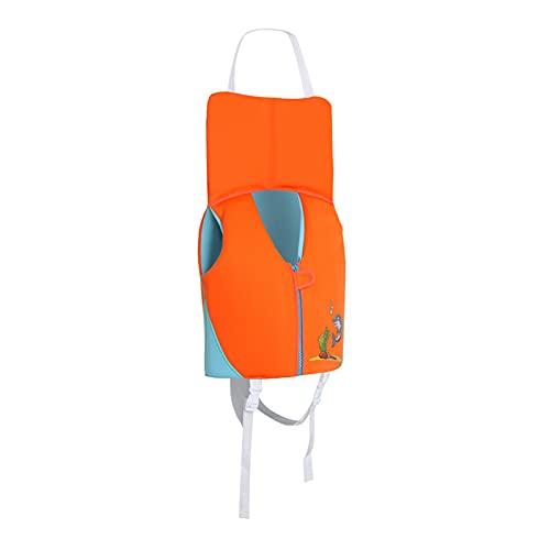 Chaleco de NatacióN de Flotador Swim Vest para NiñOs con Reposacabezas 1 a 7 AñOs Neopreno Correa de Entrepierna Ajustable para Deportes AcuáTicos,L