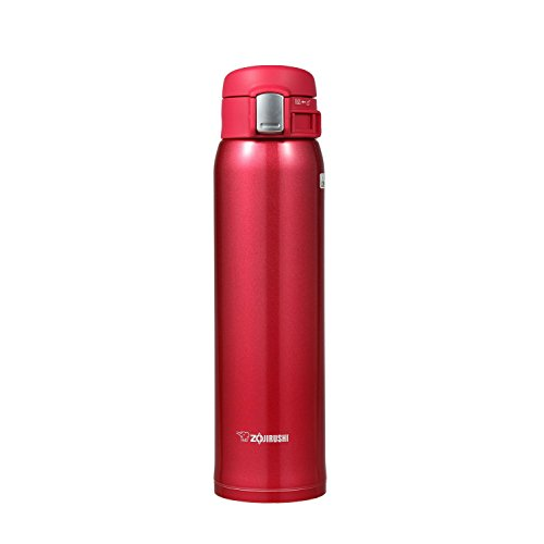 Zojirushi Stainless Steel Vacuum Insulated Mug, 20-Ounce, Clear Red