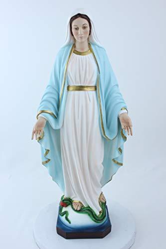 Statua della Madonna Miracolosa. Altezza cm. 50. Adatta per Ambienti Esterni e Interni. Realizzata in Resina. Prodotta e Realizzata in Italia.