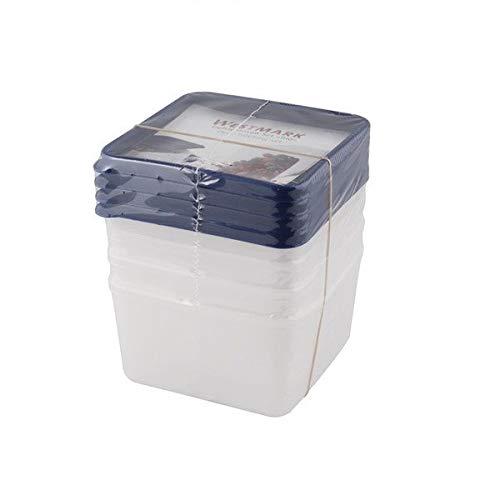 Westmark 4 Gefrierdosen, Plastik, Transparent, 11.3 x 11.3 x 6.4 cm, 4-Einheiten