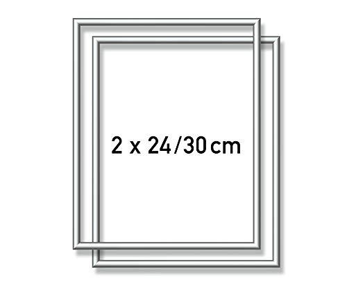 Schipper 605220771 Malen nach Zahlen, 2 x Alurahmen 24 x 30 cm, silber matt ohne Glas für Ihr Kunstwerk, einfache Selbstmontage
