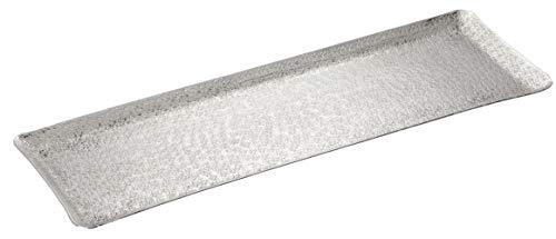 Meinposten. Dekotablett Dekoschale Tablett Schale Silber Metall Deko Tischdeko 46x15 cm