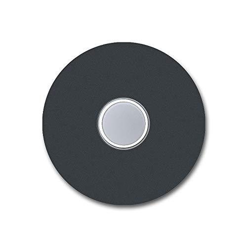 Design roestvrijstalen deurbel KT22 grijs antraciet RAL7016 met verlichte belknop