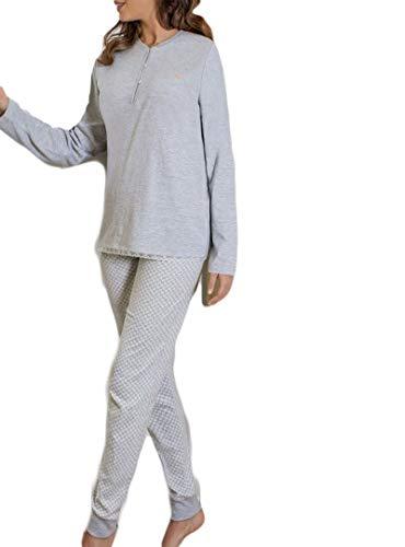 MARIE CLAIRE - Pijama Mujer Básico Algodón Mujer Color: Gris Talla: 50