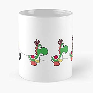 Christmas Xmas Yoshi Yule - Novelty Ceramic Cups 11oz, Unique Birthday And Holiday Gifts For Grandma Grandpa Co-worker Friend.