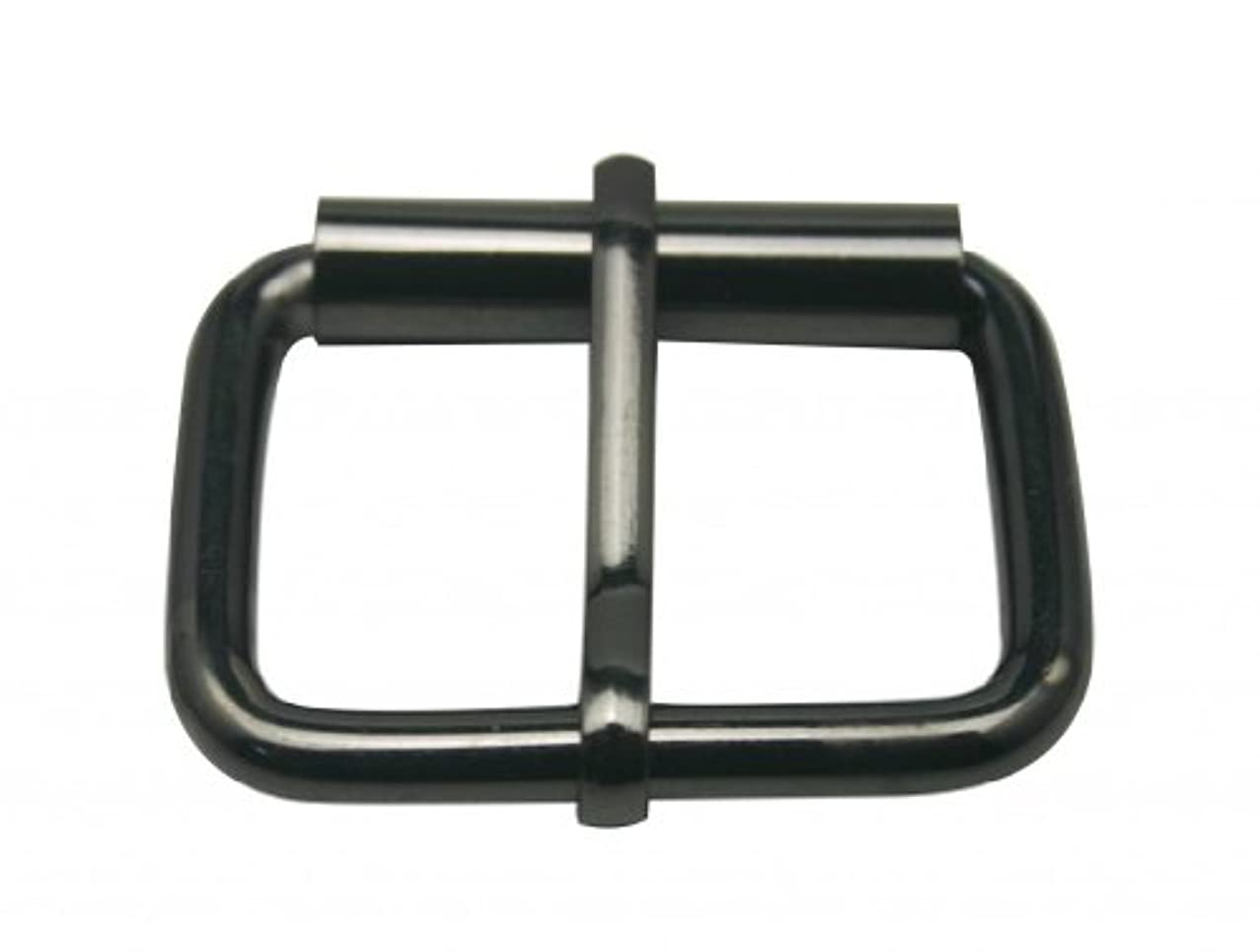 Generic Metal Gun Black Rectangle Buckle with Slider Bar 1.5