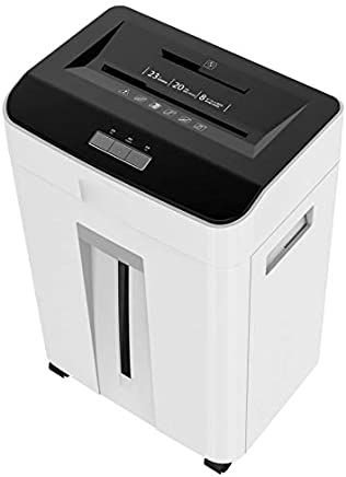 $1282 » L.HPT Paper Shredder,Document Shredder/Credit Card Cross-Cut 6-Sheet Capacity, 23L Waste bin, 100% Anti Jam Technology,for Home or Professional Use, with CD Shredder