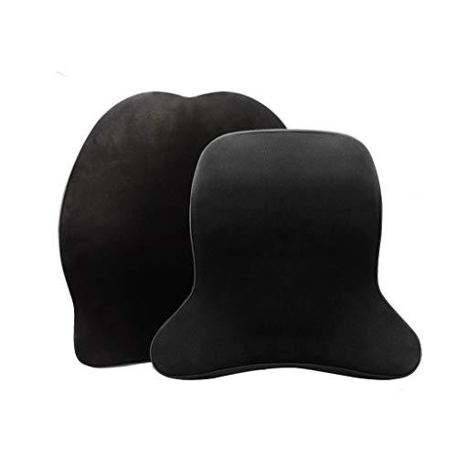 Mai car interior Soporte Lumbar para automóvil Cojín para la Espalda y Kit de Almohada para el Cuello del Coche , Ergonomía Diseño ortopédico Aliviar la ciática y el Dolor en la Cola (Color : Brown)