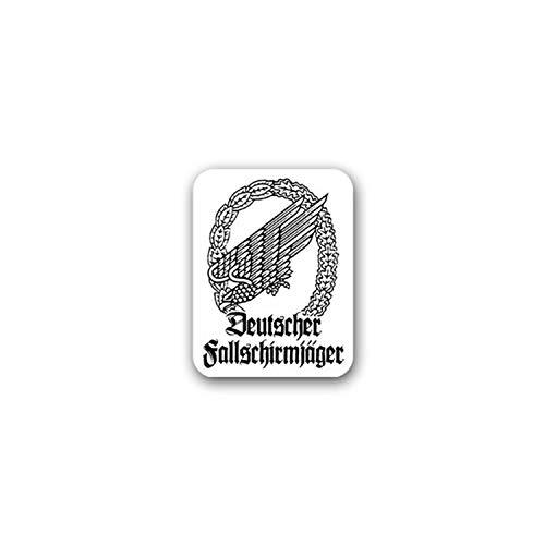 Aufkleber/Sticker Deutscher Fallschirmjäger Falli BW Adler 5x7cm A1794