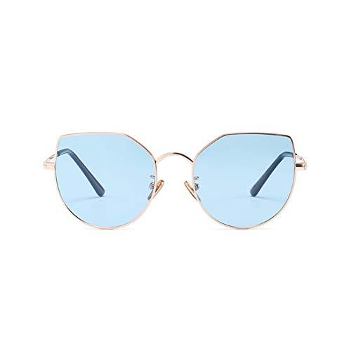 XIAOTANBAIHUO Anteojos Graceful Cat Eyes Kids Gafas de sol polarizadas con borde de metal y caja coloreada Protección UV para niños y niñas De 3 a 12 gafas de sol Protección UV Gafas protectoras