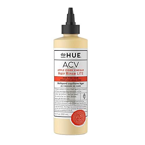 dpHUE Apple Cider Vinegar Hair Rinse Lite, 8.5 oz - Shampoo Alternative, Hair & Scalp Cleanser - Won't Weigh Fine Hair Down - Helps Remove Buildup & Protects Natural Hair Oils