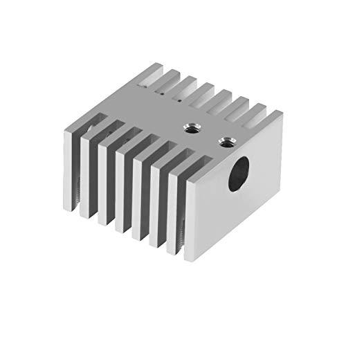 Aibecy Heatsink Cooler, Single Head Aluminium Alloy Block Heat Sink Radiator Metal DIY Cooling Fin 30 * 30 * 18mm